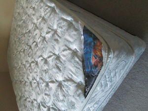 Serta Queen Mattress, Box Spring and Bed Frame for $200