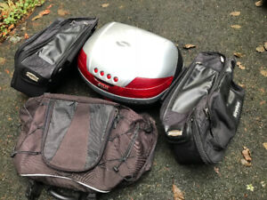 Motorcycle soft bags and top case