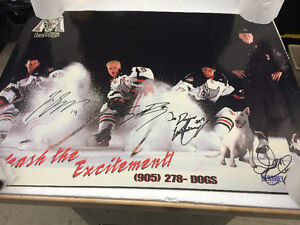 Autographed Don Cherry and Jason Spezza,Scott Page,  Poster