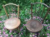 Two Vintage Bentwood chairs