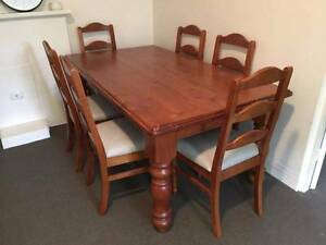 Timber dining table and 6 chairs Woollahra Eastern Suburbs Preview