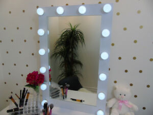 WHITE HOLLYWOOD MAKEUP MIRROR VANITY MIRROR LARGE BEAUTY MIRROR