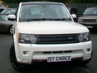 2009 LAND ROVER RANGE ROVER SPORT TDV6 HSE STUNNING WHITE WITH BLACK ROOF //BLA