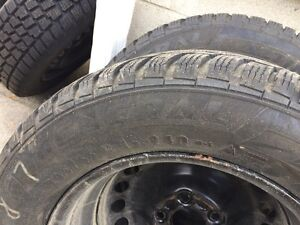 Hercules Avalanche Winter tires with rims- only used 1 season Kitchener / Waterloo Kitchener Area image 5