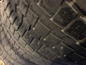 Winter 265/75/R15 Cooper tires on steel rims x 4