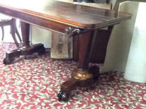 antique 1840,s rosewood console table or sofa table