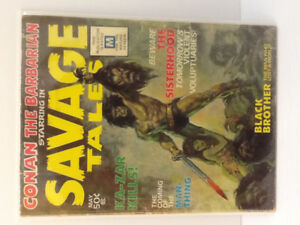 Savage Tales #s 1-5 & Savage Sword of Conan Magazines ( 211 )