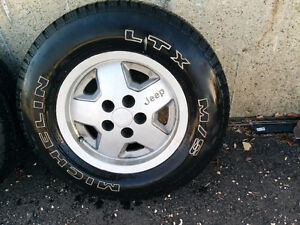 Micheln mud and snow rims / tires for Jeep yj Strathcona County Edmonton Area image 5
