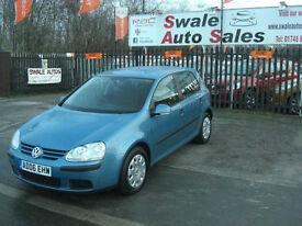 2006 VOLKSWAGEN GOLF S 1.4L ONLY 57,639 MILES, FULL SERVICE HISTORY