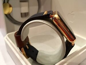 42MM 24K Gold Plated Apple Watch (Gen1) custom leather band West Island Greater Montréal image 3
