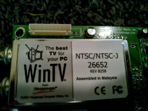 Internal PCI NTSC TV Tuner