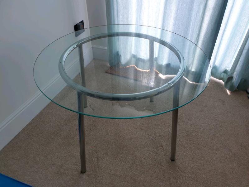 Salmi Ikea Glass Round Dining Table | in Teignmouth, Devon ...