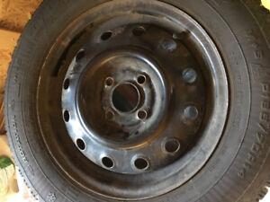 4 Winter Tires On Rims 185/70R14 87S