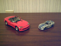 2 metal Dodge Vipers used