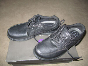 Two pairs of men's shoes.