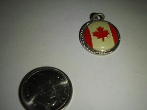 Canadian Flag Charms, Silver or Gold Colour