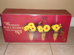 Set of 3 decorative hanging scones with wall mount Brand new London Ontario image 5