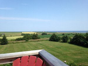 Ocean view PEI north shore weekly rental