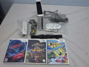 Wii Console with Controller and 3 Games