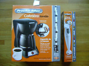 Coffee maker and hand blender