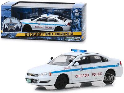 2010 CHEVROLET IMPALA CHICAGO POLICE 1/43 DIECAST MODEL CAR BY GREENLIGHT 86166