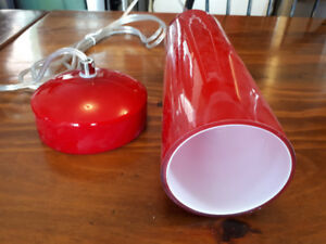 New red glass pendant  lights...7 available