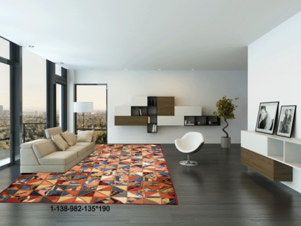 Modern Rug,Handmade Kilim, Natural Wool,Modern patchwork