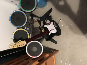 Rockband Drums and guitar