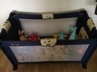 Travel cot, play pen. Suitable for twins. Very good condition