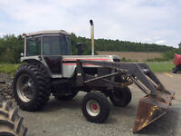 1977 White 2-155 Tractor & Loader