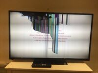 Hitachi 50 inch Smart Tv (broken screen)