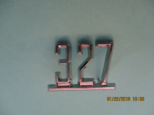 GM 327 FENDER EMBLEMS