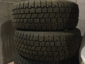 a pair of 195/60r14 winter tires