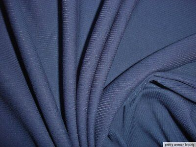 1 Lfm Feinrippstoff 2,94€/m² dunkelblau Bündchenstoff 117cm breit BD13
