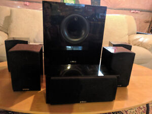 Energy 5.1 Take Classic Home Theatre System Set of Six Black
