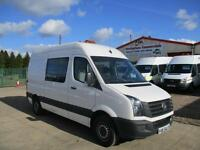 66 reg VW CRAFTER CR35 MWB, CREW, MESS UNIT, MESSING, WELFARE TOILET VAN
