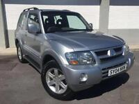 2004 04 Mitsubishi Shogun 3.2DI-D auto Warrior in silver full black leather 4x4