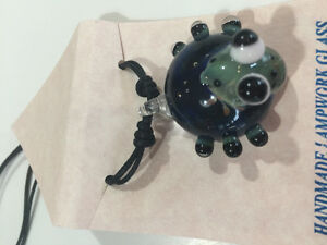 Glass frog pendant