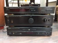 Denon AMP, CD Player and Tuner.