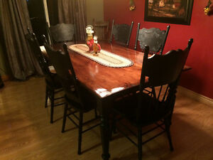 Harvest Table and Pressed Back Chairs