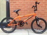 """Big Daddy Rooster Bmx 20"""" Neon Orange/Black Freestyler Bike"""