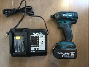 Makita 18V Impact Driver with 3.0Ah battery and brand new charge