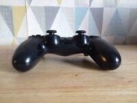 Black ps4 controller