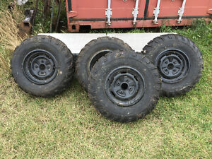 Brand new ATV tires on rims