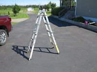 Adjustable 13 foot ladder