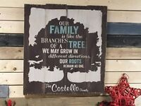 Fundraiser for Habitat for Humanity - Rustic Family Tree Sign