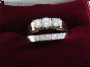Gorgeous Set-Trinity Ring and 5-In-Line Diamond Ring