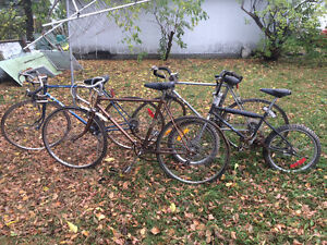 Bikes for donation.