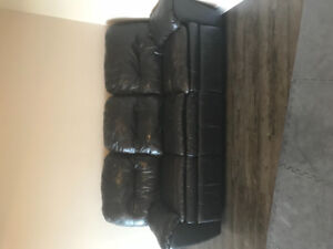 Reclining leather couch for sale