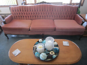 French provincial sofa and matching chair
